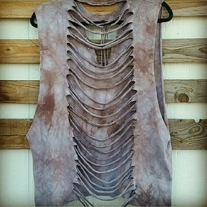 Hippie Chic Tops - ARMADILLO TIE DYED TEE